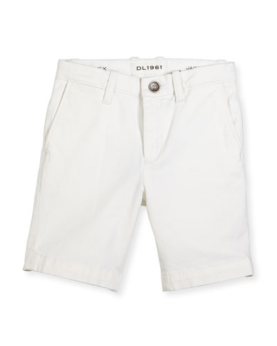 Jacob Stretch Chino Shorts, Ice Cap, Size 8-16