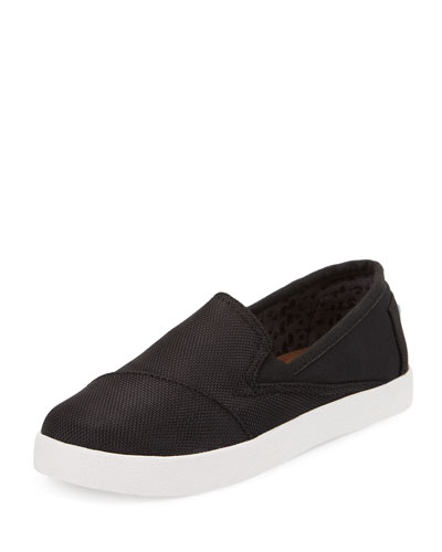 Avalon Canvas Slip-On Shoe, Black, Youth