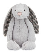 Large Bashful Blake Bunny Stuffed Animal, Gray