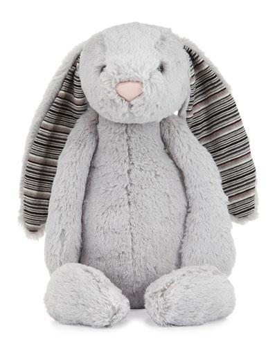 Large Bashful Blake Bunny Stuffed Animal Gray