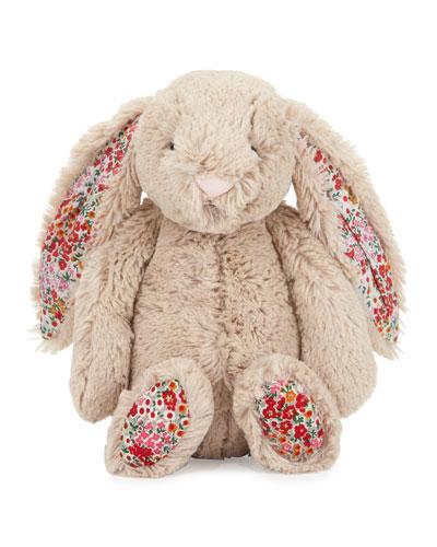 Jellycat Medium Bashful Blossom Posy Bunny Stuffed Animal, Tan