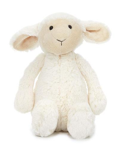 Medium Bashful Lamb Stuffed Animal, Cream
