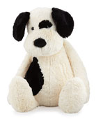 Really Big Bashful Puppy Stuffed Animal, Black/Cream