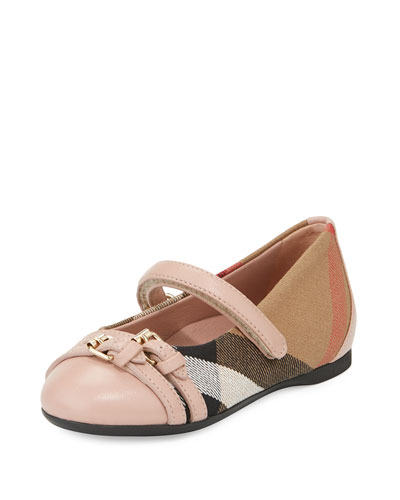 Avonwick Check Mary Jane, Nude Blush/Tan, Toddler