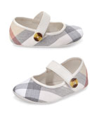 Baldwyn Check Mary Jane, Heritage Stone, Infant Sizes 0-12 Months