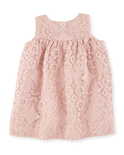 Karine Sleeveless Lace A-line Dress, Thistle Pink, Size 6M-3