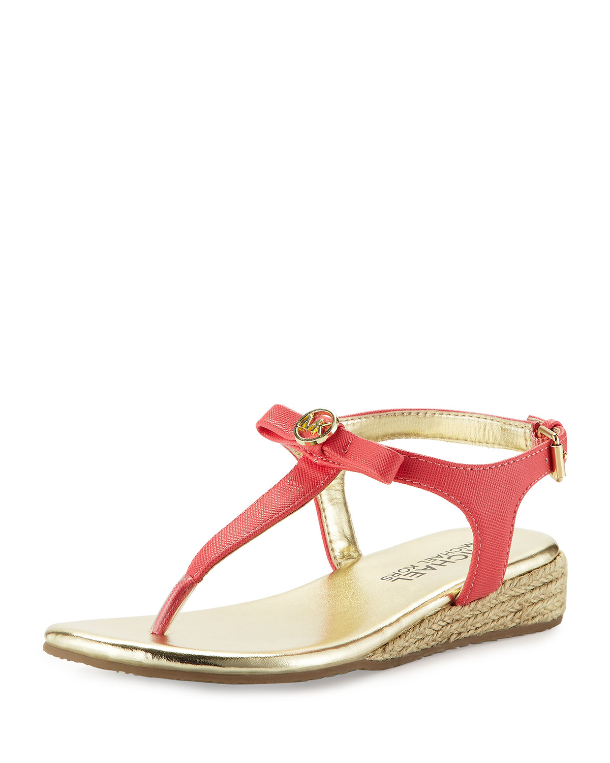 Perry Rita Wedge Thong Sandal, Watermelon, Youth