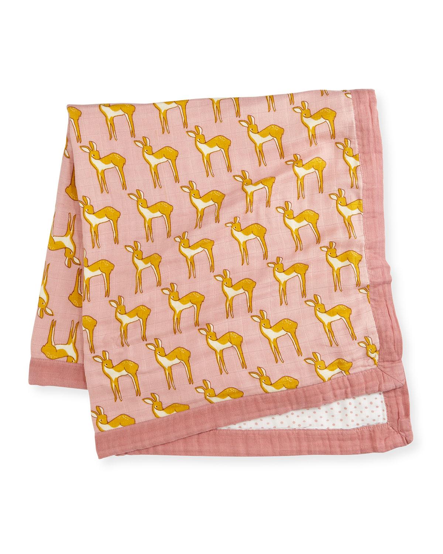 Lovely Deer Blanket, Rose