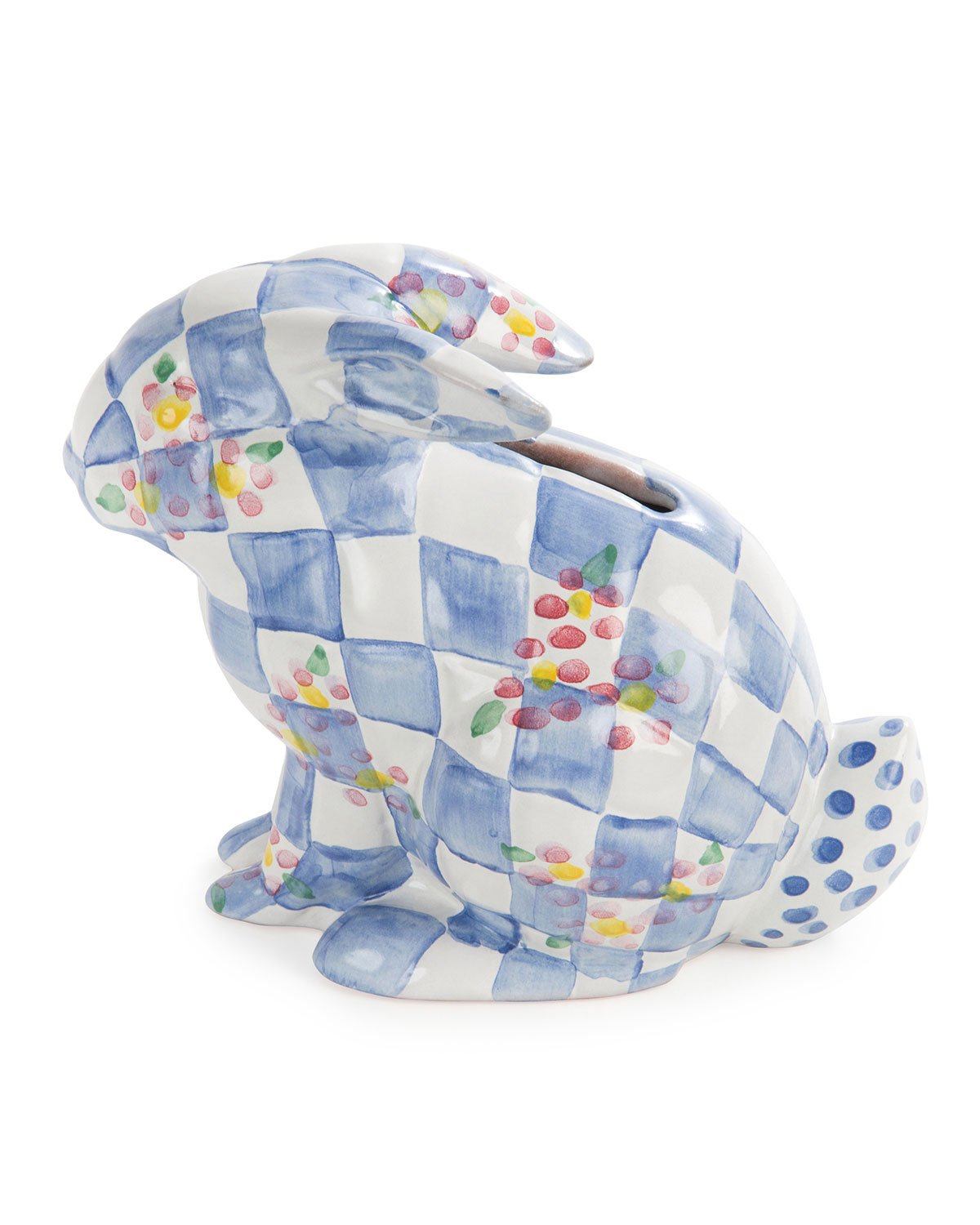 Handcrafted Bunny Bank, Blue