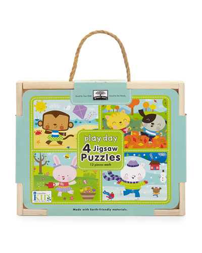 Play Day Puzzle Set of Four Chunky Puzzles