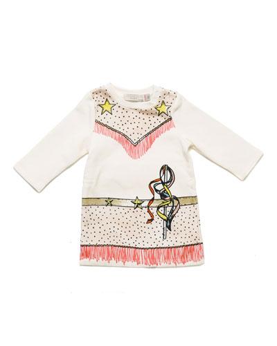 Savannah Fleece Cowgirl Dress, Cloud, Size 9-24 Months
