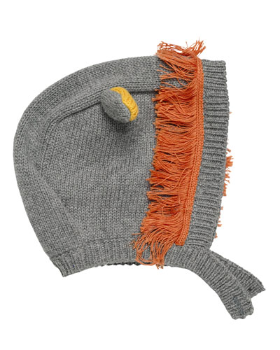 Chips Knit Lion Hat, Gray