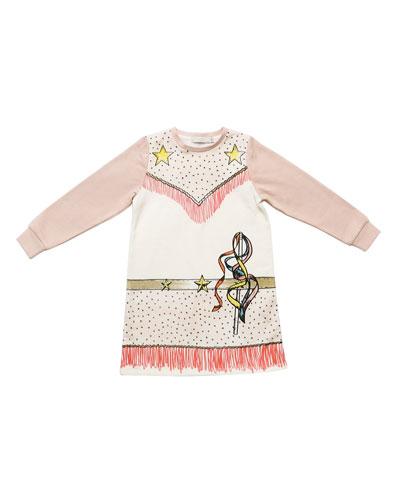 Savannah Fleece Cowgirl Dress, Cloud, Size 4-6