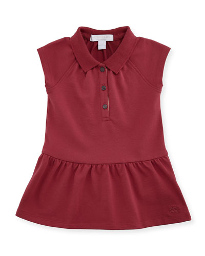 Cali Smocked Raglan Polo Dress, Peony Rose, Size 6M-3