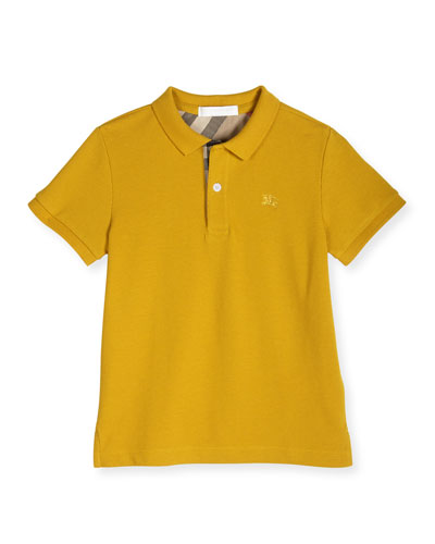 PPM Pique Polo Shirt, Gorse Yellow, Size 4-14