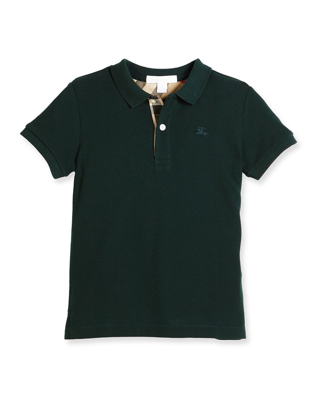Mini PPM Jersey Polo Shirt, Racing Green, Size 4-14