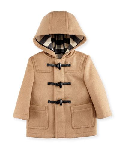 Brogan Hooded Duffle Coat, New Camel, Size 6M-3