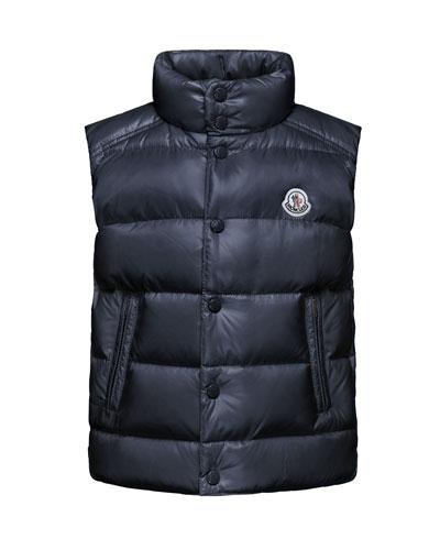 Tib Down Puffer Vest, Navy, Size 4-6