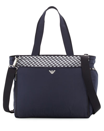 Top-Handle Diaper Bag, Blueberry