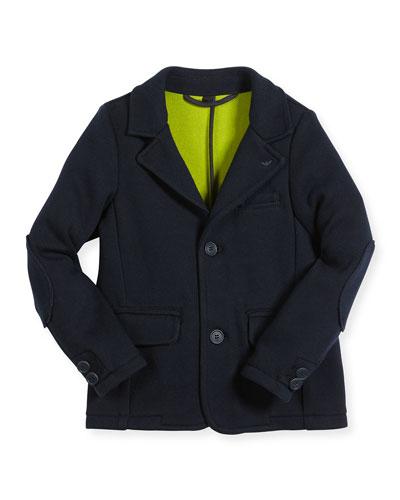 Classic Two-Button Blazer, Navy, Size 4-12