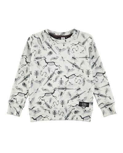 Mickay X-Ray Pullover Sweatshirt, White, Size 4-12