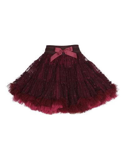 Bella Polka-Dot Tutu Skirt, Sweet Grape, Size 2-7