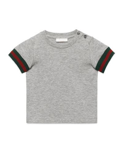 Short-Sleeve Slub Jersey Tee, Size 6-36 Months