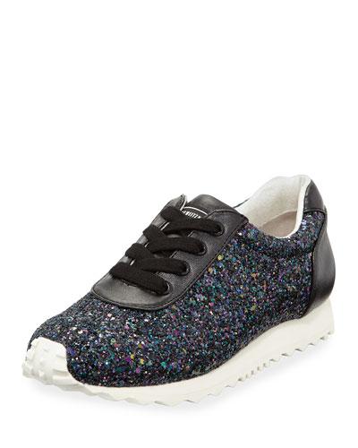 Alison Glitter Sneaker, Black