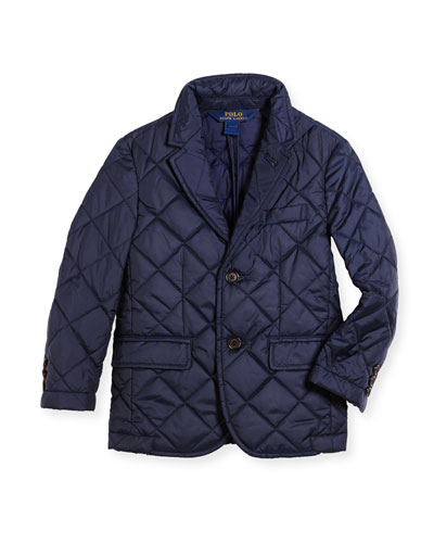 Hillsdale Quilted Sport Jacket, Navy, Size 2-7