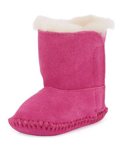 Infant Caden Suede Bootie/Crib Shoe, Princess Pink
