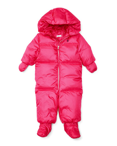 Quilted Bunting Snowsuit, Pink, Size 9-24 Months
