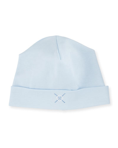 Baby Argyle Pima Baby Hat, Light Blue