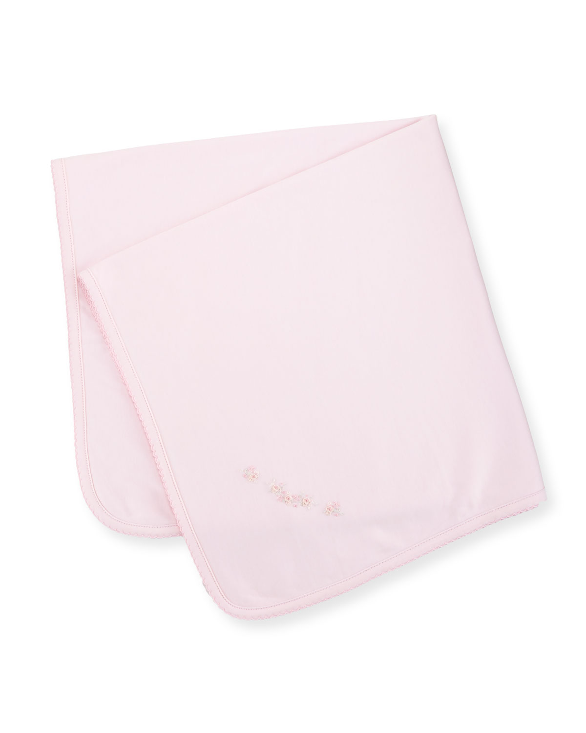 Fall Vines Pima Baby Blanket, Pink
