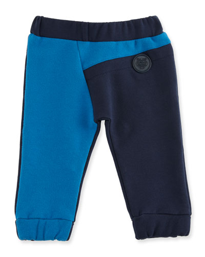Colorblock Straight-Leg Sweatpants, Blue, Size 6M-3