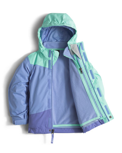 Mountain View Triclimate® Hooded Colorblock Jacket, Size 2-4