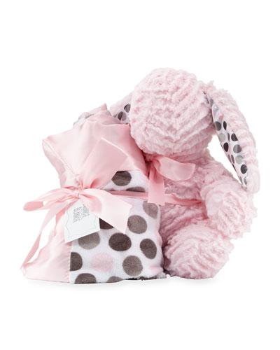 Swankie Blankie Ziggy Bunny & Blanket Gift Set, Pink
