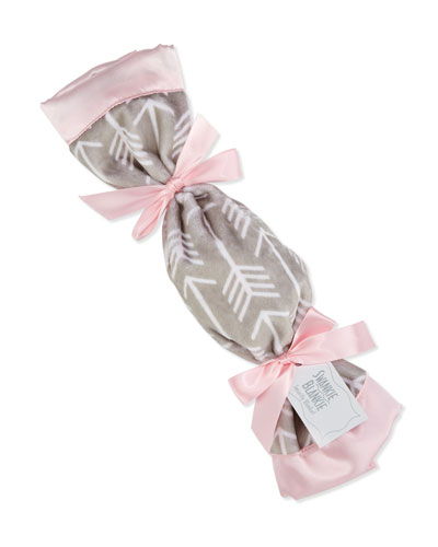 Arrow Plush Security Blanket, Pink/Slate