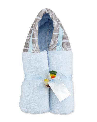 Arrow Hooded Towel, Blue/Slate