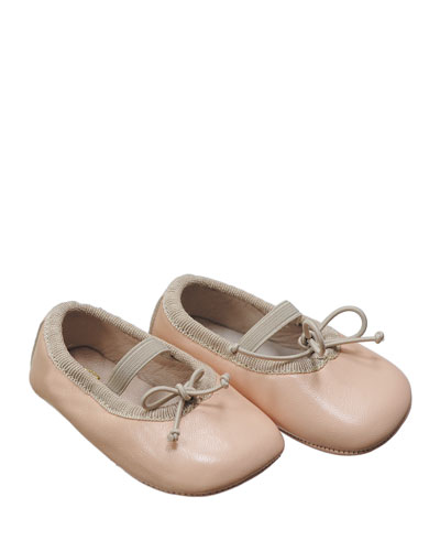 Leather Ballet Flat, Pink, Infant