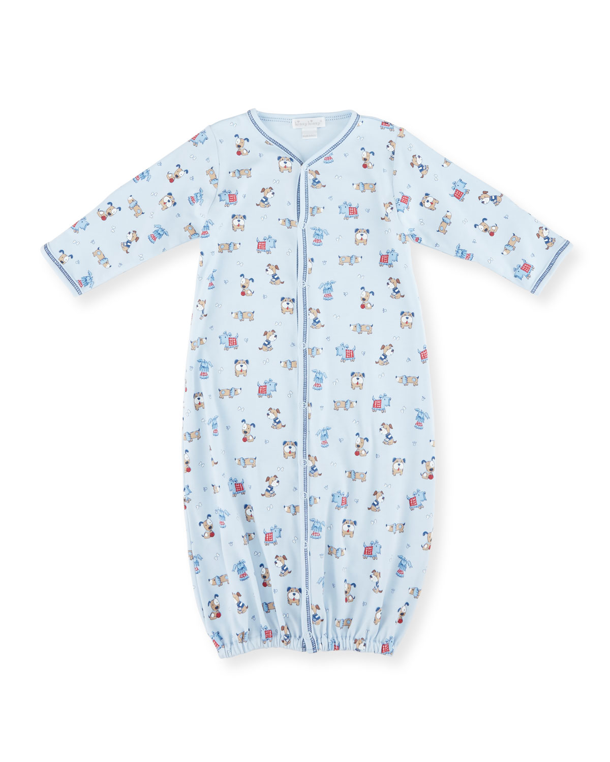 Sweater Weather Convertible Sleep Gown, Light Blue, Size Newborn-Small