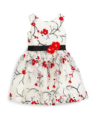 Cherry Blossom Dress, Ivory, Size 2-6