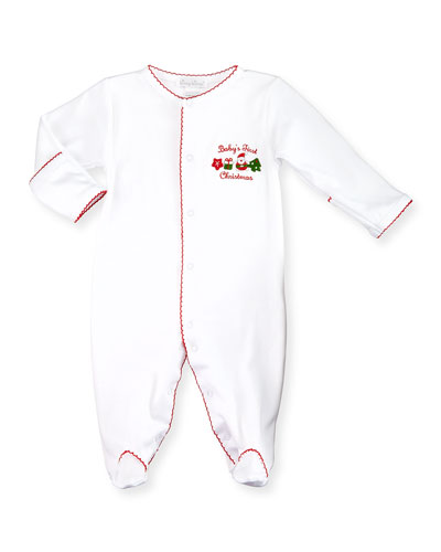Baby's First Christmas Footie Pajamas, Red/White, Size Newborn-9 Months