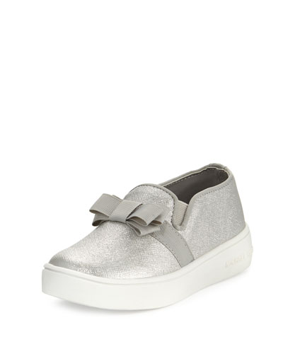 Ivy Metallic Skate Shoe, Silver, Toddler