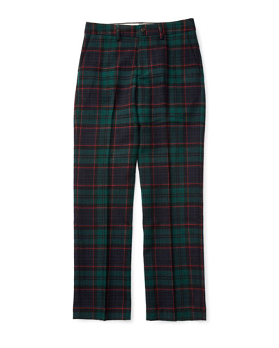 Wool Plaid Pants | Neiman Marcus