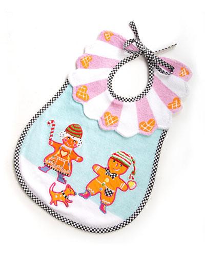 Terry Gingerbread Bib, Multicolor