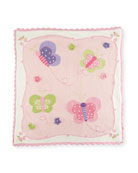 Art Walk Kids' Butterfly Scalloped Blanket
