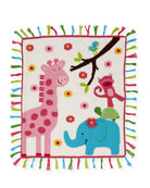 Art Walk Kids' Jungle Mania Tassel Blanket