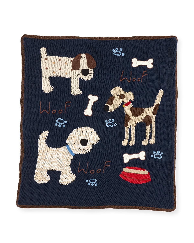 Kids Woof Woof Knit Blanket