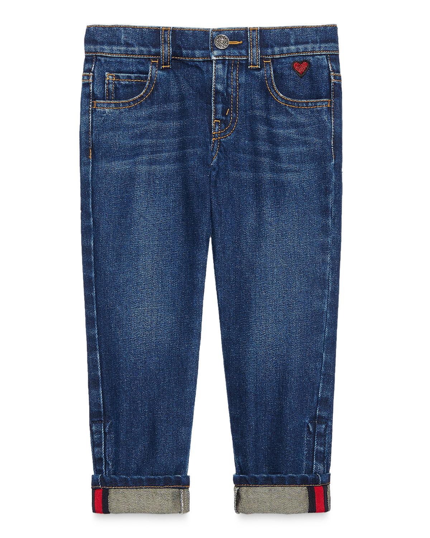 Medium Washed Skinny Jeans, Blue, Size 4-12