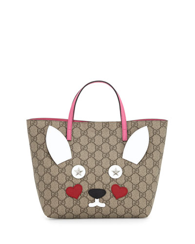 Girls' GG Supreme Rabbit Tote Bag, Multicolor